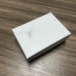Other - Jewelry Box Gift Cardboard Marble White Box 20 pc